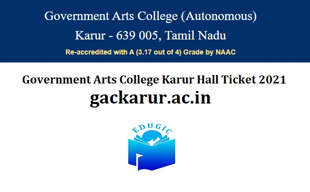 Government Arts College Karur Hall Ticket 2021
