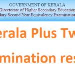 Kerala Plus One +2 Revaluation Result