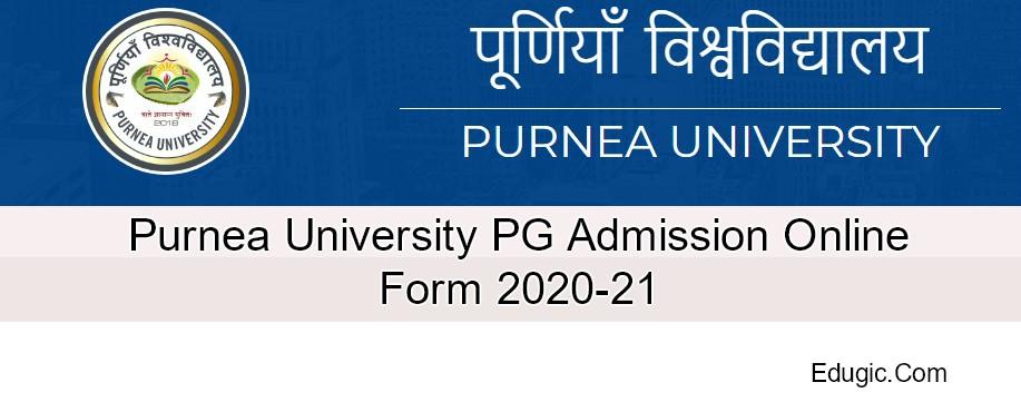 Purnea University PG Admission Online Form