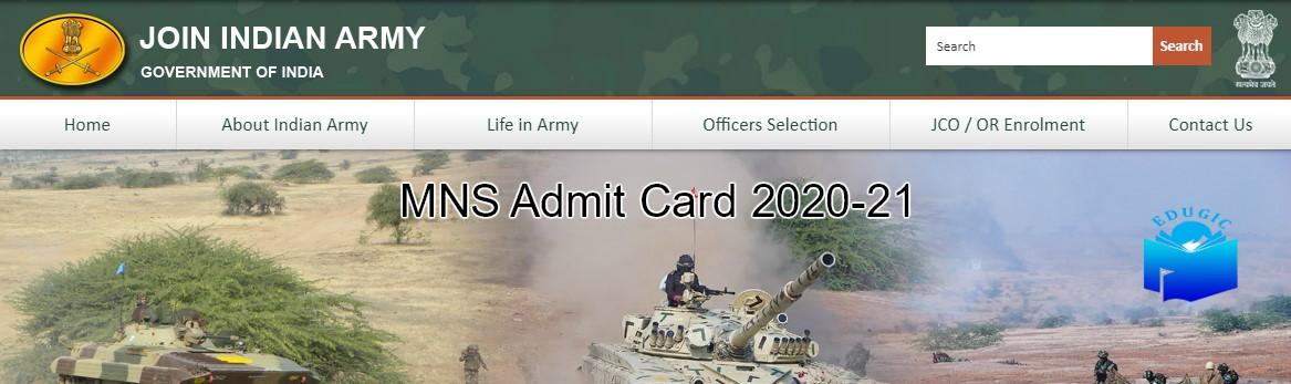 MNS Admit Card