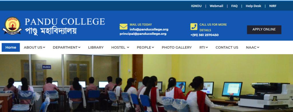 Pandu College PG Admission