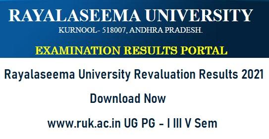 Rayalaseema University Revaluation Results 2021