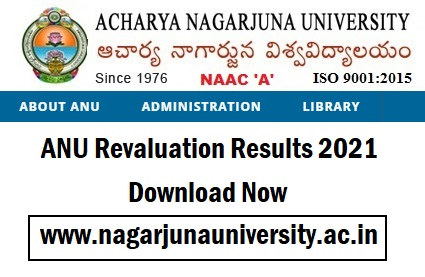 ANU Revaluation Results 2021