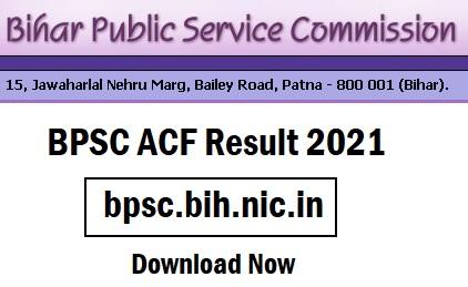 BPSC ACF Result 2021