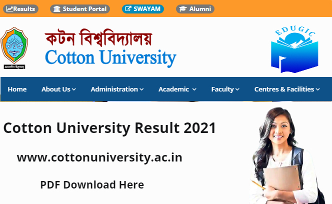 Cotton University Result 2021