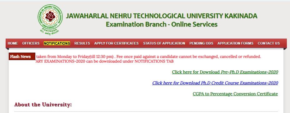 JNTUK Exams Revaluation Result 2021