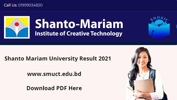 Shanto Mariam University Result 2021