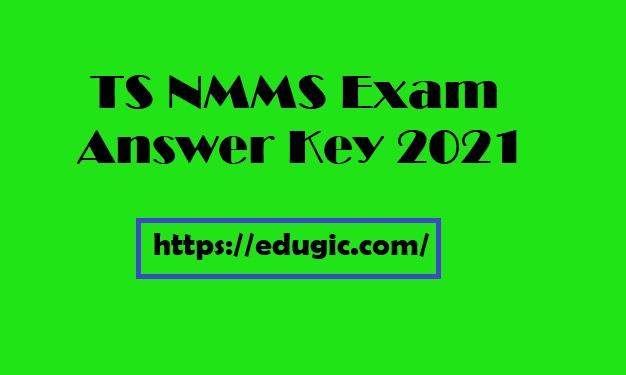 TS NMMS Exam Answer Key 2021