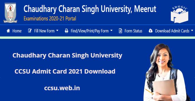 ccsu.web.in admit card 2021