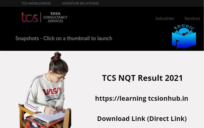 TCS NQT Result 2021