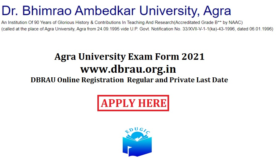 Agra University Exam Form 2021