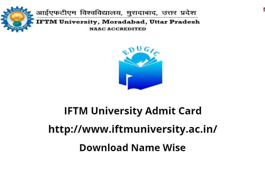 IFTM University Admit Card 2021