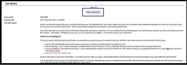 KFC Application Form Trinidad,