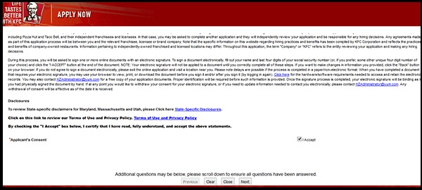 KFC Application PDF