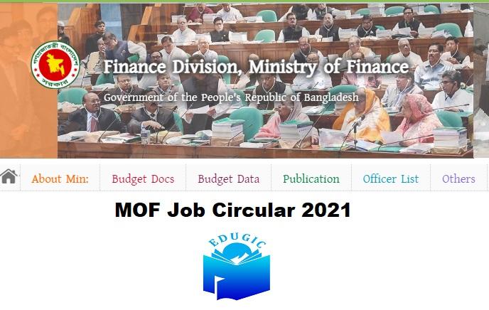 MOF Job Circular 2021