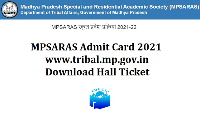 MPSARAS Admit Card 2021