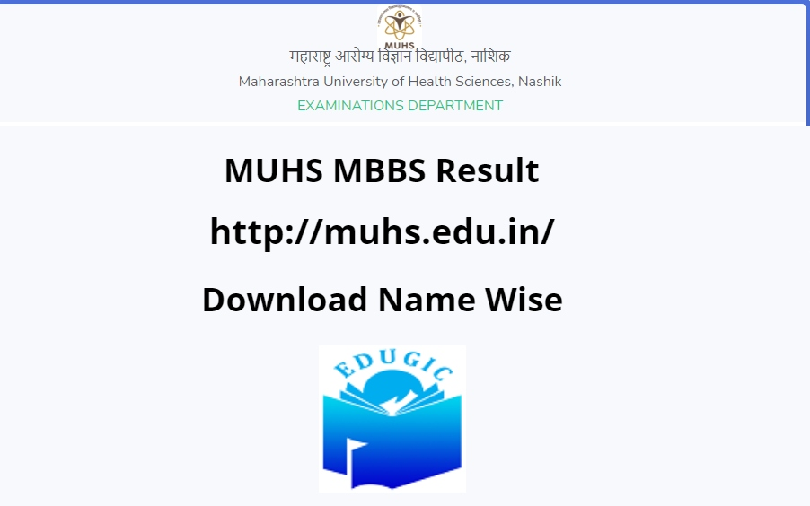 MUHS MBBS Result 2021