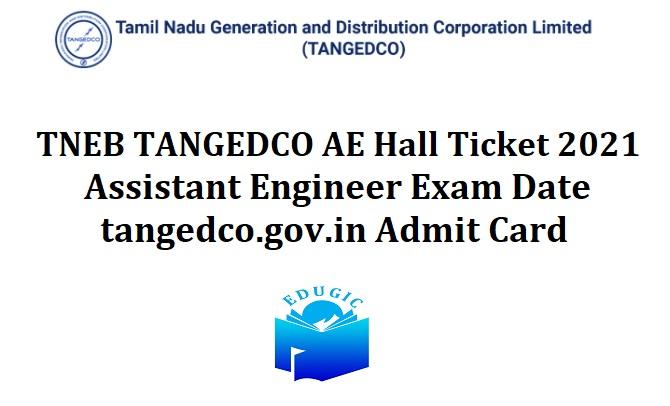 TNEB TANGEDCO AE Hall Ticket 2021
