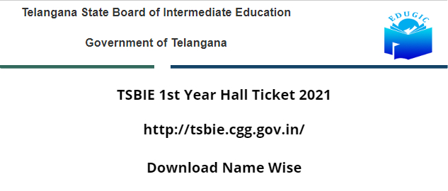 TSBIE 1st Year Hall Ticket 2021