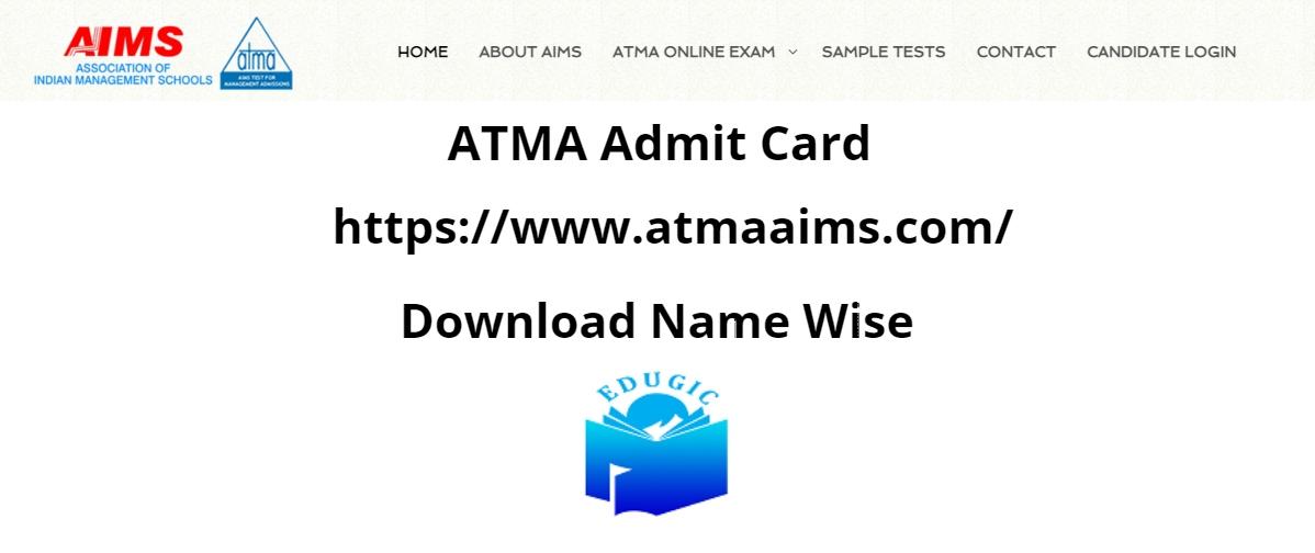 ATMA Admit Card 2021