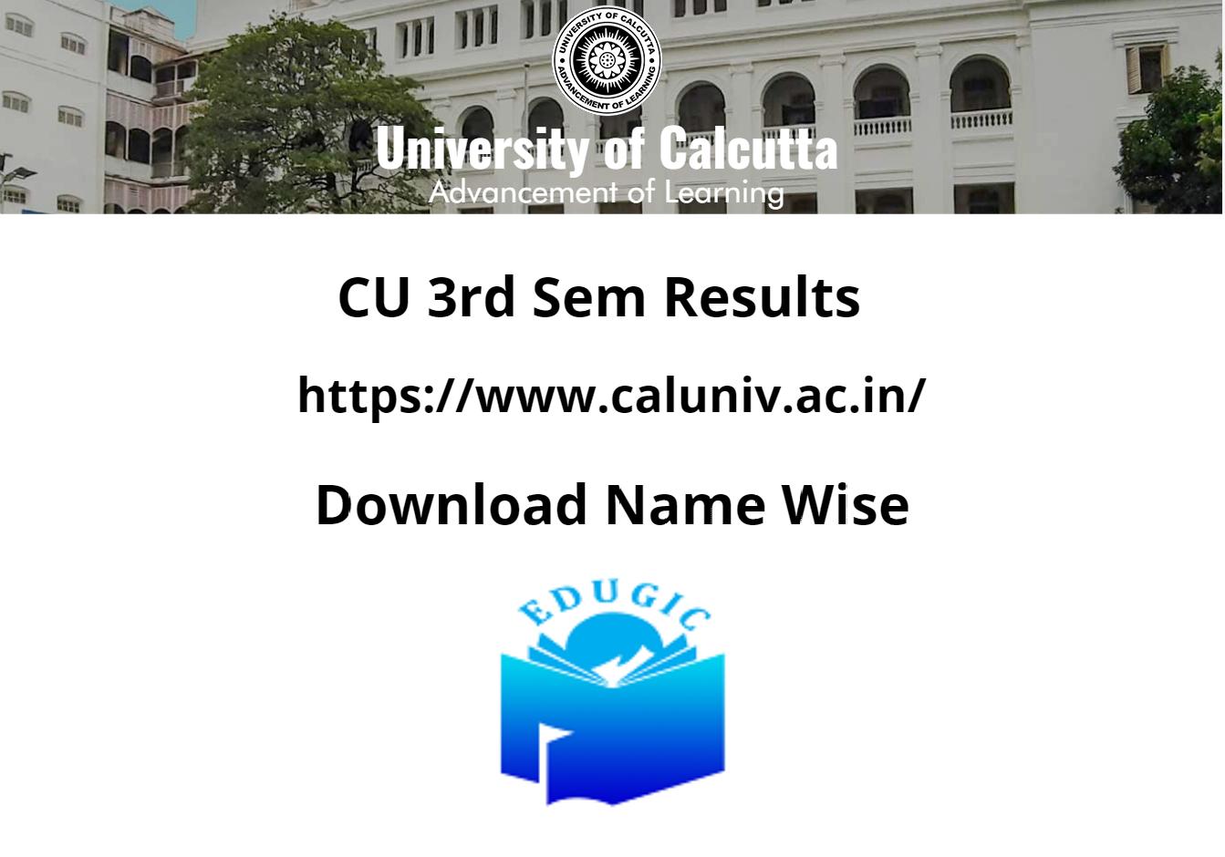 CU 3rd Sem Results 2021