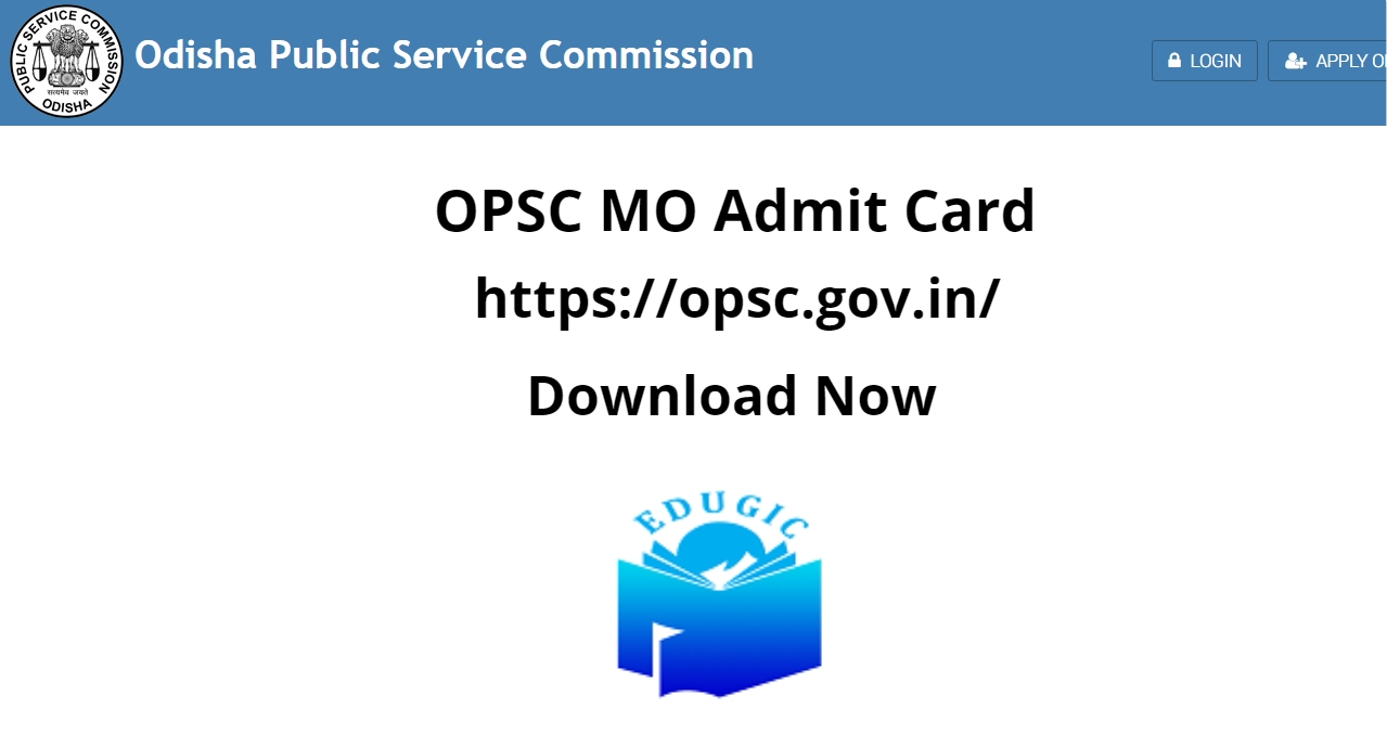 OPSC MO Admit Card 2021
