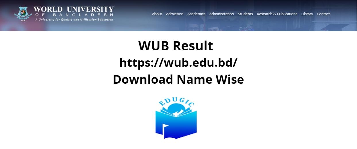 WUB Result 2021