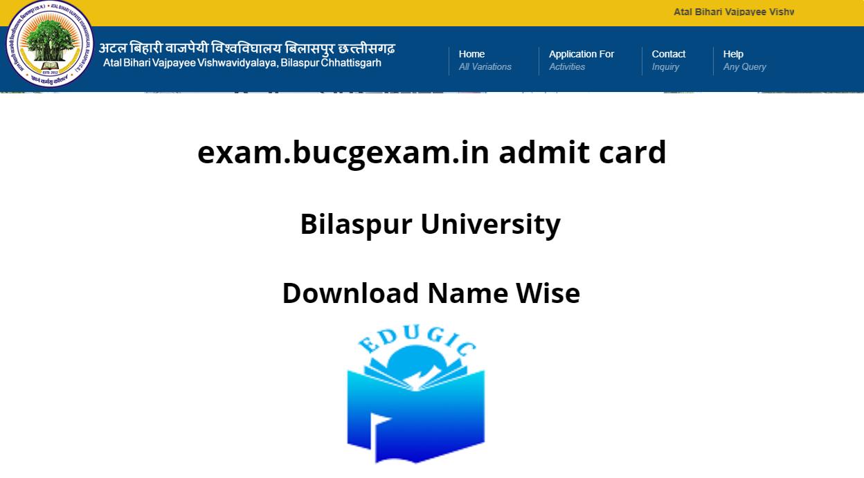 exam.bucgexam.in Admit Card 2021